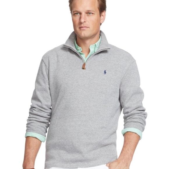 6e0e2b84 Polo Ralph Lauren Half Zip French Rib Shirt XL